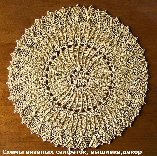 Схемы вязаных салфеток, вышивка,декор. | ВКонтакте