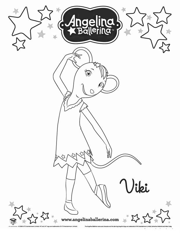 angelina ballerina coloring pages 7