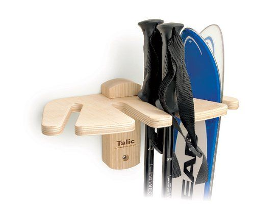 Talic Universal Ski and Pole Vertical Storage Rack  |  could certainly make this for less than $51.90