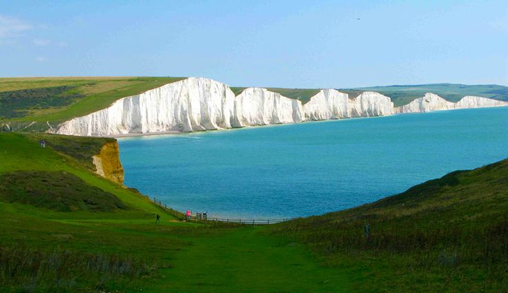 The White Cliffs of Eastbourn, England:  Beachy Head is the highest chalk cliff in the whole of Britain, an astonishing 531 feet. Being so high, it offers absolutely stunning views of the south east coast.