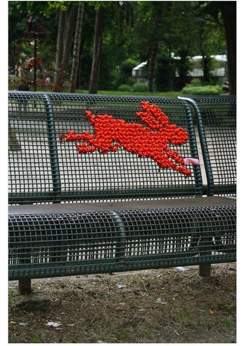 Bench cross stitch