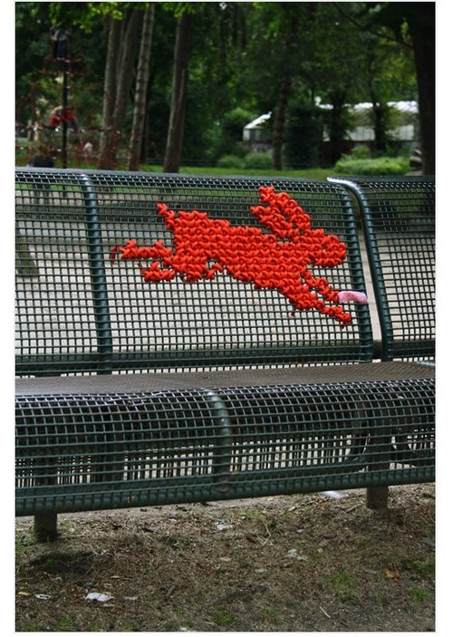Bench cross stitch