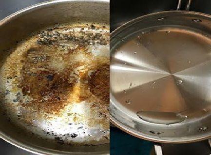 Él nunca pudo dejar su molde para hornear totalmente limpio, pero cuando trató este truco… No puedo creer lo que veía!