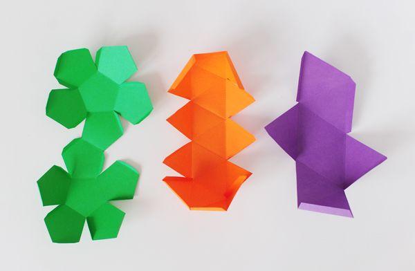 DIY Geometric Favor Boxes