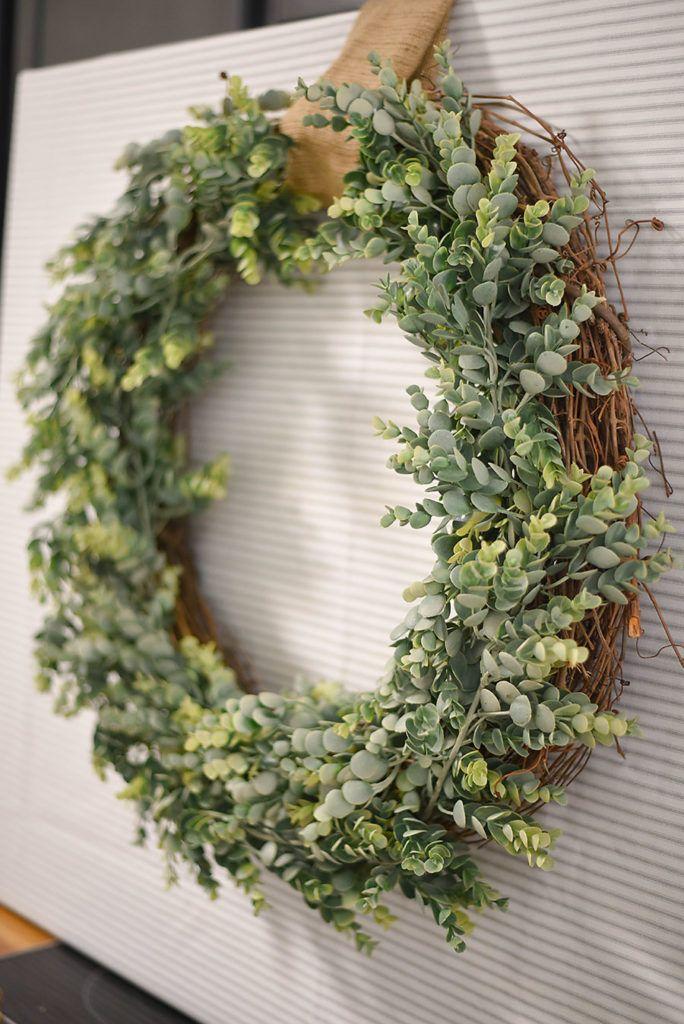 The Easiest Diy Wreath Ever Turn It Into Giant Wall Decor Easy Diy Wreaths Farmhouse Wreath Diy Boxwood Wreath Diy