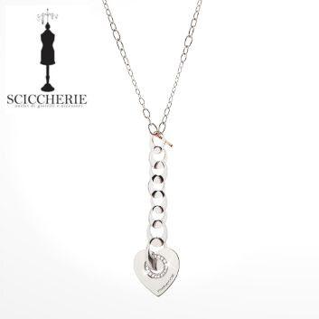 Rebecca Gioielli Collezione San Valentino. Collana in acciaio con cuore e pietre. #sciccherieoutlet #sanvalentino #rebecca