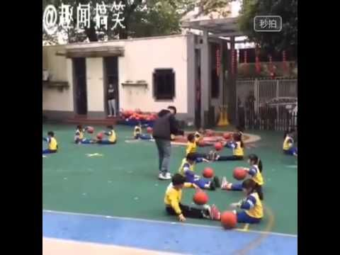 Amazing Asian Kids Basketball Routine.  I totally would have been that one kid who dropped the damn ball and went chasing after it, hahaha