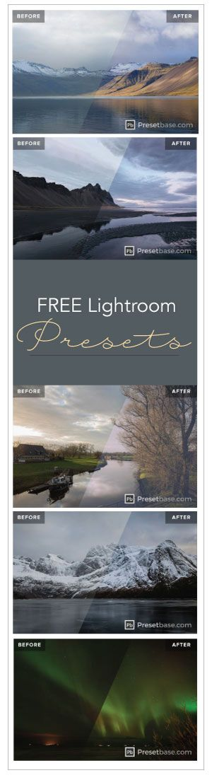 Lightroom presets-colors are more vibrant but still realistic. Photos become intriguing instead of being dull.