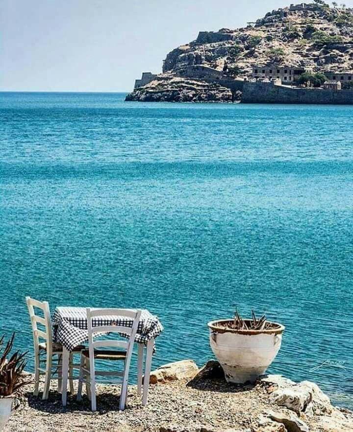 Plaka village, Lasithi, Crete, Greece (Just opposite is the island of Spinaloga)