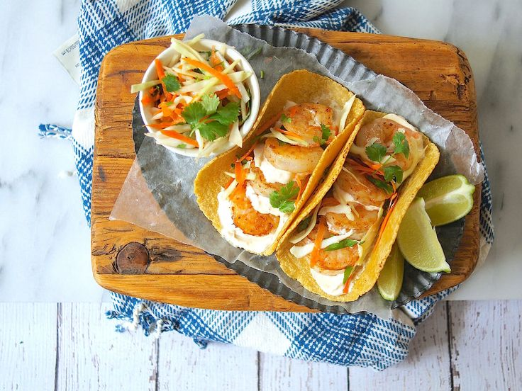 Swap up your traditional fish taco for this crazy good Baja Shrimp Taco Recipe with Chipotle Lime Crema. So good and good for you.