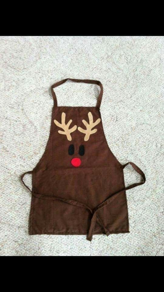 Rudolph apron, idea for children