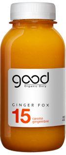 15 GINGER FOX Jus de fruits et légumes crus, bio, pressés à froid et fabriqués en France