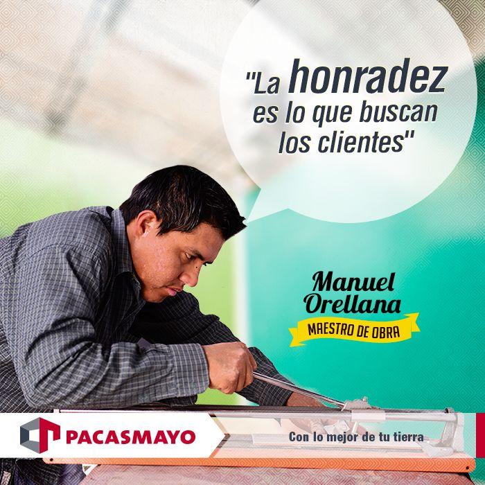 Manuel, un joven maestro de obras, nos cuenta la clave de su oficio aquí: http://bit.ly/1l0Z70M