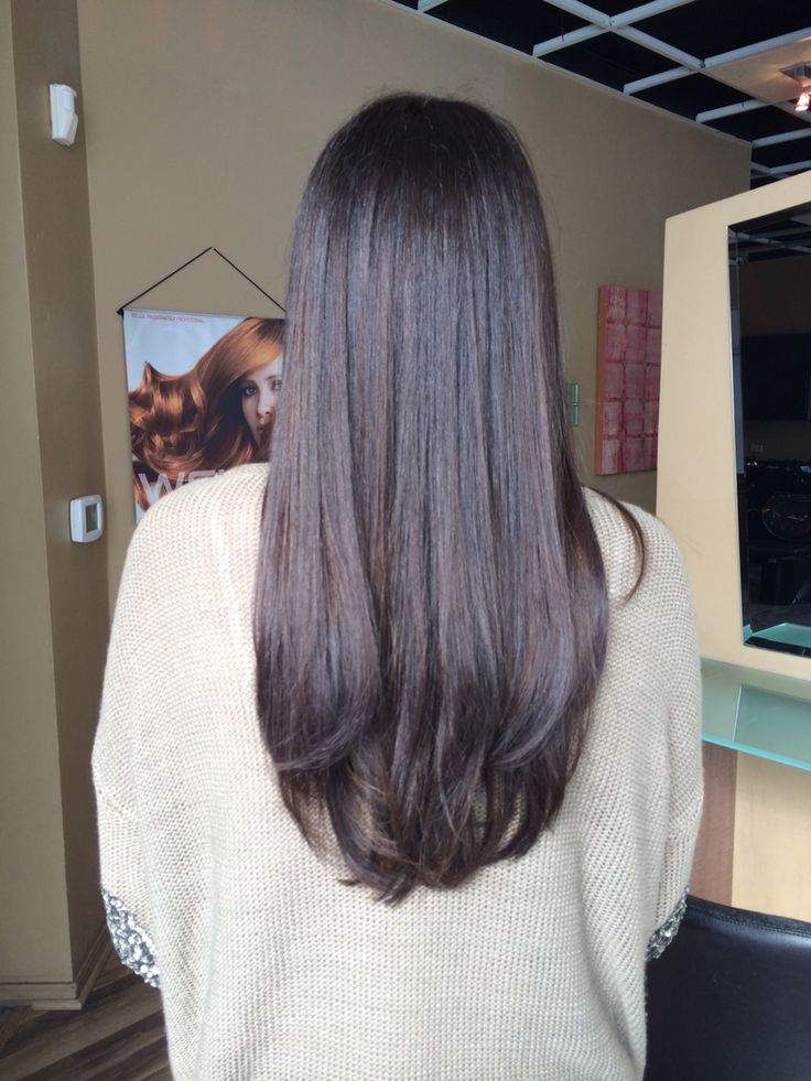 Warm Chocolate Brown With Wella Color Line In 2019 Hair