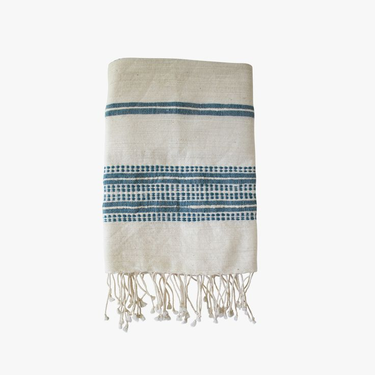 Our Teal Stripes Hand Towel is as versatile as it is beautiful. Soft, natural hand towels with ribbed ends are a classic complement to any style.