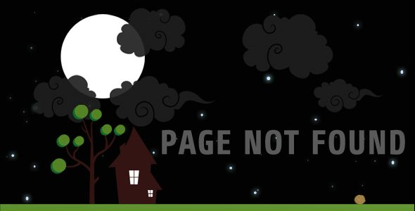 Lost in Night Animated 404   http://themeforest.net/item/lost-in-night-animated-404/4667509?ref=damiamio       Error page 404 with animated background. It's night and it's dark. Design is layered so you can add more or remove or change positions. Package includes complete html page and customizable psd file.  FEATURES:   Creative  Jquery Animations  Easy of use  PSD Included  CREDITS:   JQuery  Lato font by Lukasz Dziedzic  Share by Google Font  Animated JQuery by JQuery animate  JQuery…