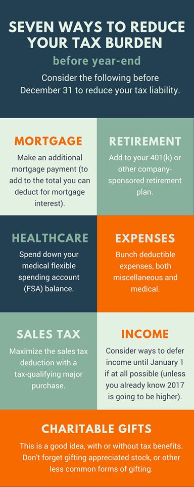 All of these are good tips to make a dent in your 2016 tax bill. Call to set up a year-end tax planning appointment. (406) 894-2050