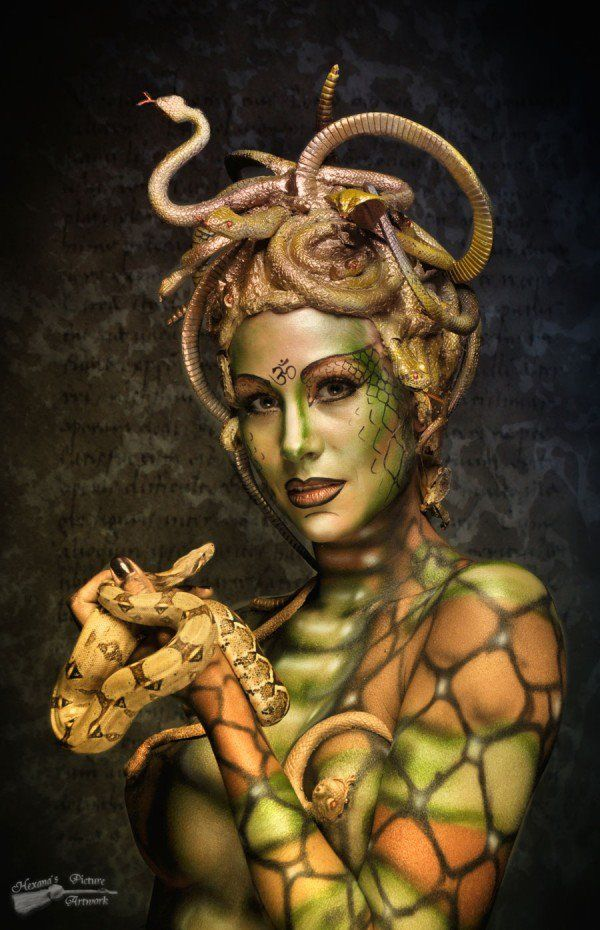 Nadja Hluchovsky is a make-up artist and body painter from Vienna, Austria