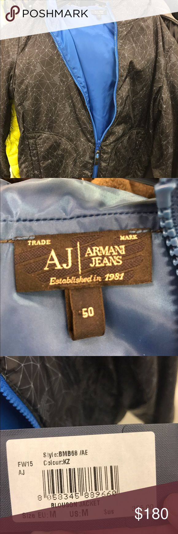 NWT Armani Jeans reversible jacket Authentic Armani jeans reversible jacket size medium retails for $365 Armani Jeans Jackets & Coats Puffers