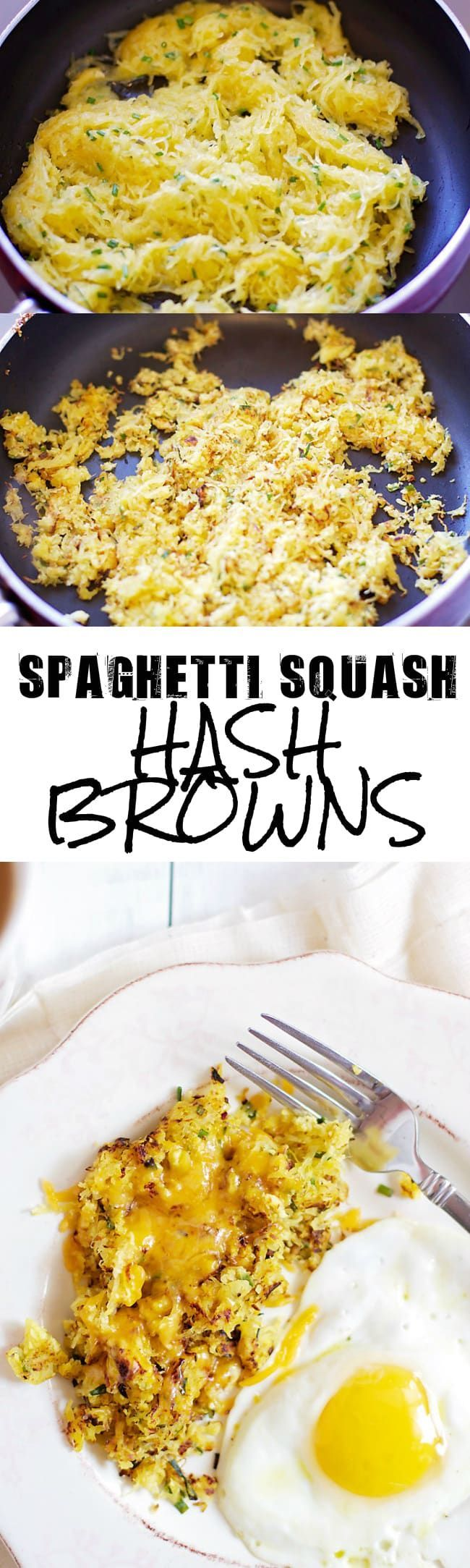 Spaghetti Squash Hash Browns- a great way to use up leftover spaghetti squash!! │ bbritnell.com