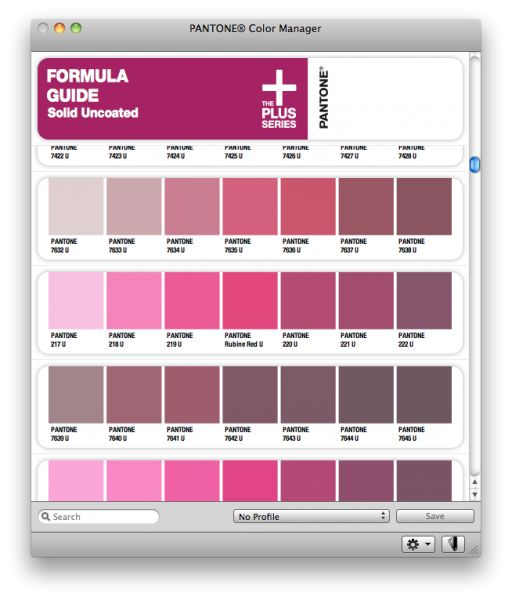 Pantone Color Manager pour mac
