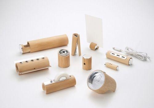 日本武藏野美术大学留学生余剑的硕士毕业设计作品-竹子文具系列