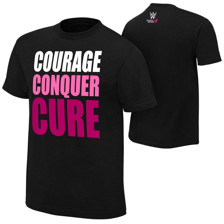 #WWE & #SusanGKomen #CourageConquerCure t-shirt