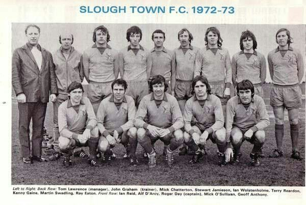 Slough Town team group in 1972-73.