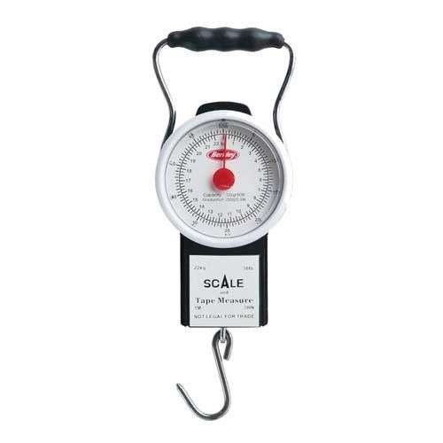 Portable Scale with Tape, 50 lbs Maximum, Black