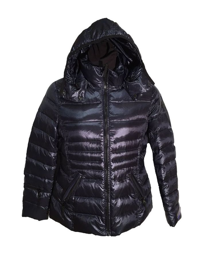 Andrew Marc Ladies Down Jacket Shine Dark Indigo XS X-Small FREE SHIPPING #AndrewMarc #Winter