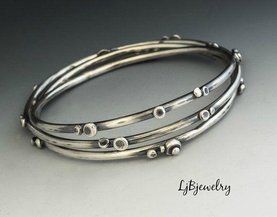 Silver Bangle Stacking Bangle Sterling Silver Bangle от LjBjewelry