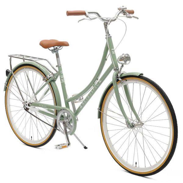 Shop vintage-inspired ladies' step-thru single-speed city bike -- retro frame, headlamp, bell, and rear rack -- starting at $299. Let's ride.