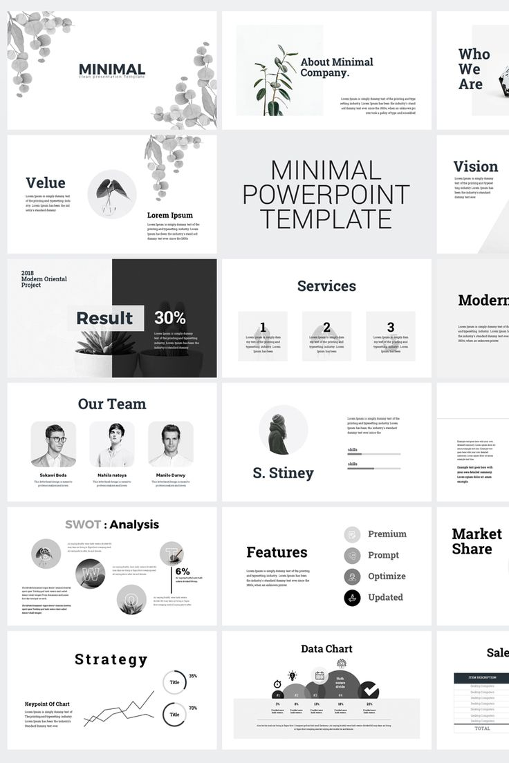 Minimal Clean Business Presentation PowerPoint Template