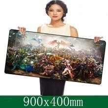 Professionali di giochi per computer mouse pad lol serie 900x400mm super grande con bordo di bloccaggio per deskop e laptop computer(China (Mainland))