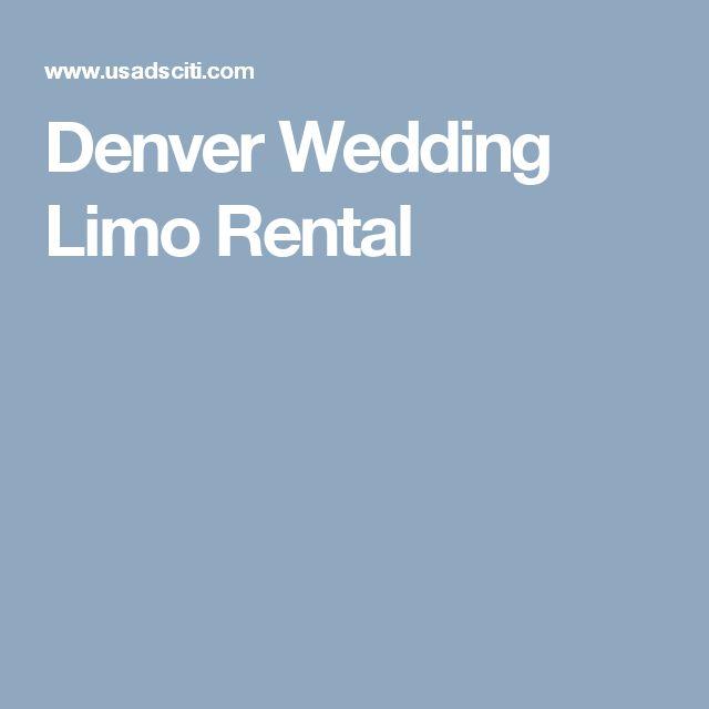 Denver Wedding Limo Rental