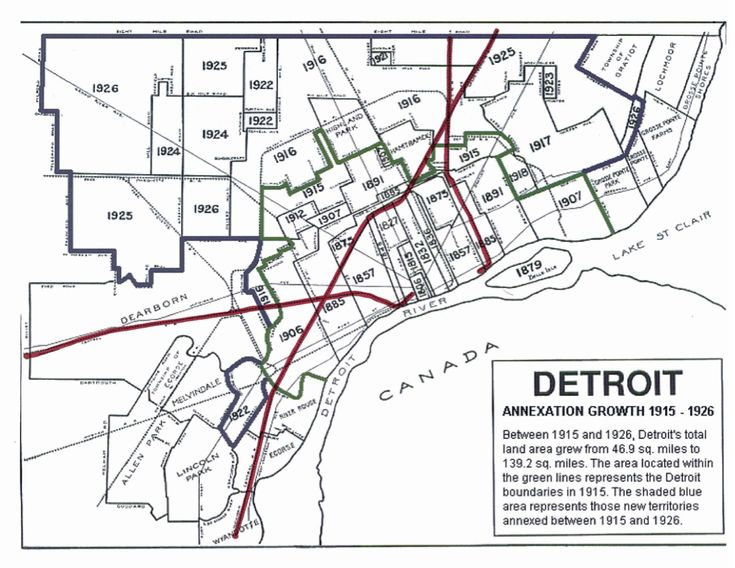 Detroit Annexation History: Detroit Annexation, Detroit S Decline, Urbanophile, Blog Archive, Detroit Maps