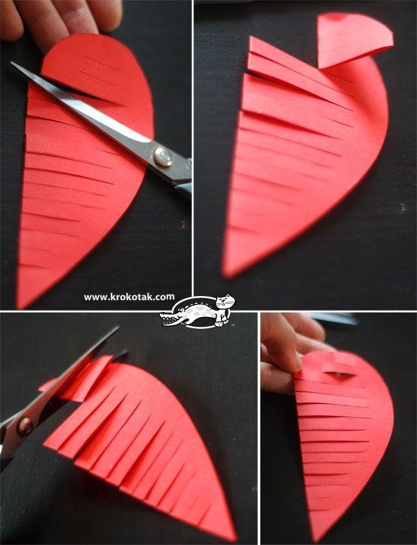 Обемно сърце от хартия