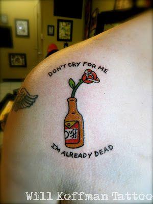 Will Koffman Tattoo: simpsons