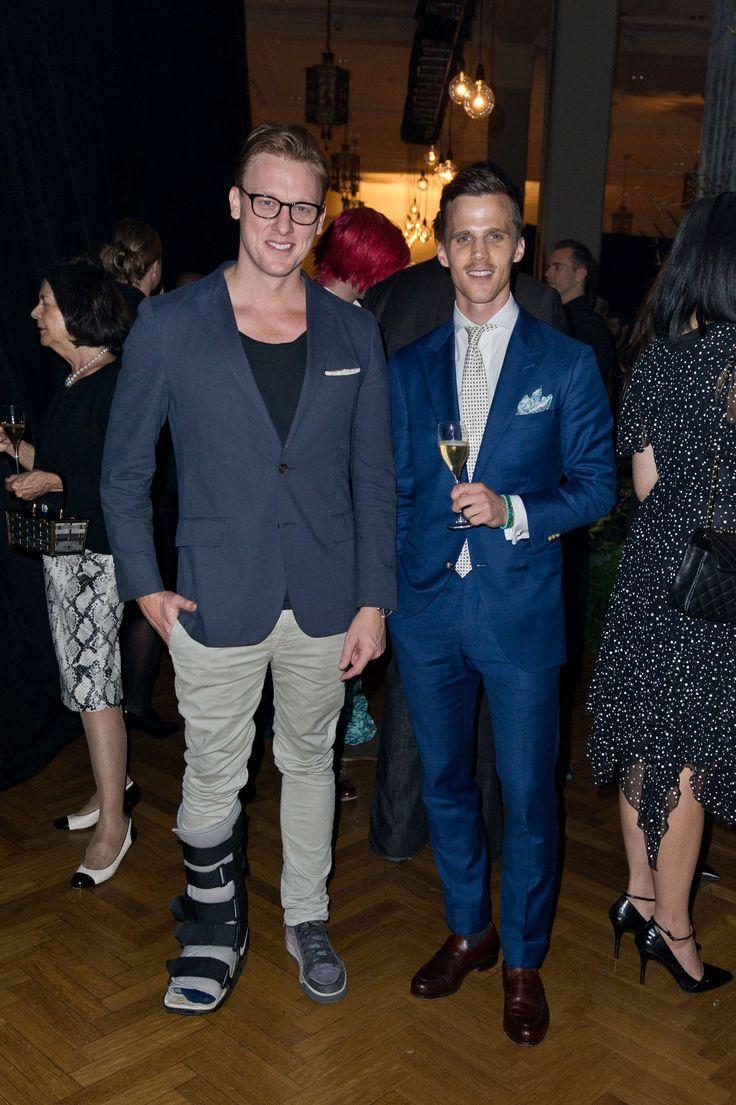 Melbourne-based menswear Blogger D'Marge and M.J. Bale Marketing Manager Drew Hoare  © Esteban La Tessa - La Tessa Photography