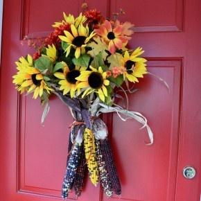 Easy Fall Door Decoration