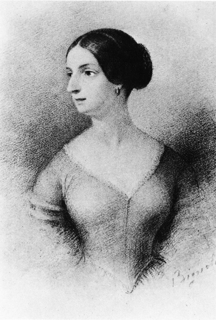 Teresa Borri Stampa portrait by  Antonio Bignoli, Milano, Casa del Manzoni in via Morone