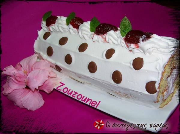 Φανταστικό ρολό φράουλας #sintagespareas #rolofraoulas #fraoules