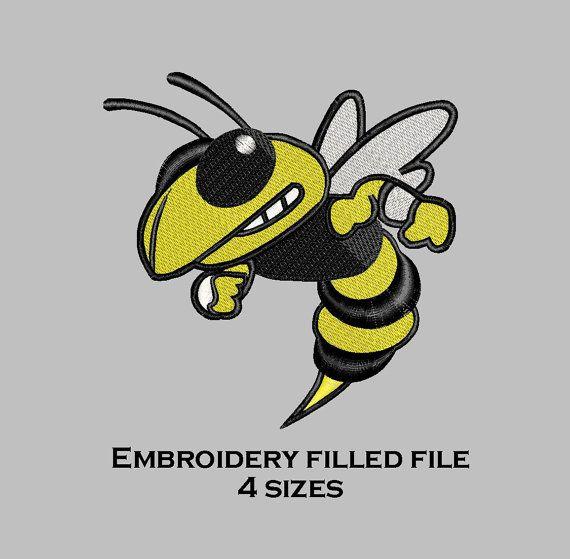 Yellow Jacket Machine Embroidery Design