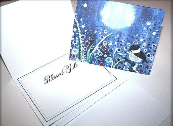 Field of Frost Yuletide Greeting Card Yule Christmas Winter