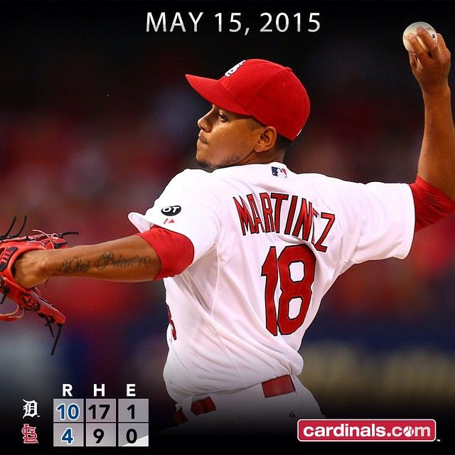 @tsunamy0327 fans eight over five innings, but #STLCards fall late to Tigers.