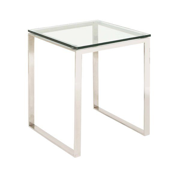 Dmitry End Table Glass End Tables Glass Top End Tables End Tables