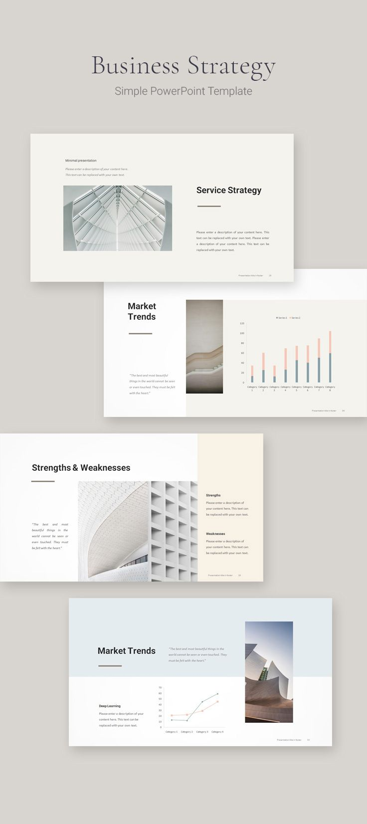 Simple Business Strategy Template Simple Powerpoint