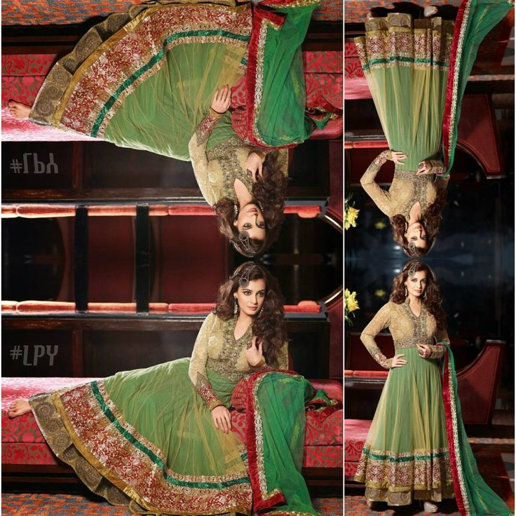 Green #Anarkali #DiaMirza #Bollywood #Edit #LPY
