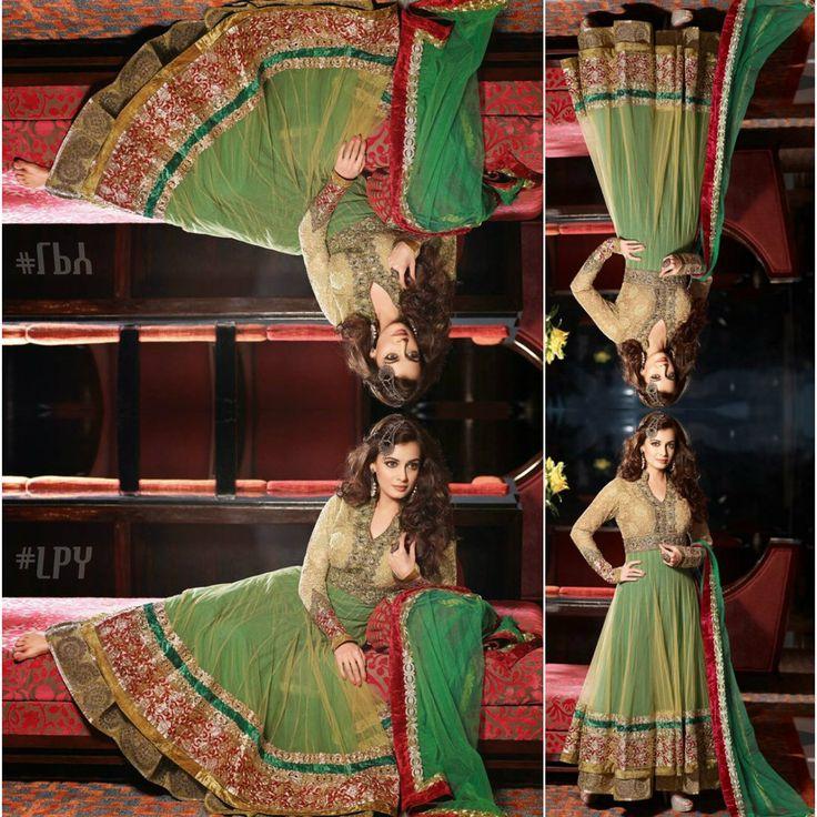 Green #Anarkali #DiaMirza #Bollywood #Edit #LPY