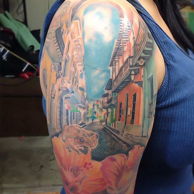Old san juan streets of puerto rico for appointments and for Puerto rican tattoo